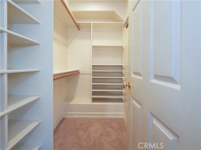2 walk in closets in master bedroom