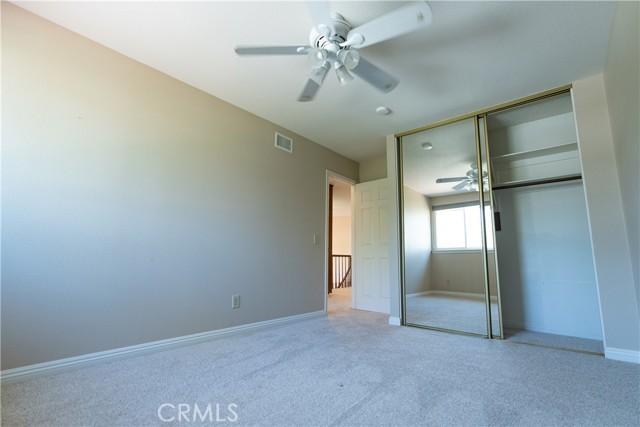 Upstairs Bedroom with Mirrored closet door