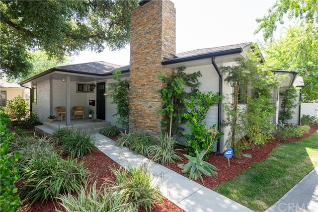 Masterfully remodeled Traditional residence has charm and distinctive styling with all of the modern amenities and was completed in 2018. Located in Daisy Villa, one of Pasadena's most desirable neighborhoods, it is surrounded by parks, coffee shops, dining. Elegant living room with fireplace and open dining area showcasing gleaming hardwood floors, crown and base moldings and recessed lighting. The expansive family room offers plenty of natural light along with an inviting fireplace and built-in bench seating. The 1,832 square foot home has a smart central floor plan featuring three private and comfortable bedrooms all with hardwood floors, generous closet space and decorative light fixtures. The two elegantly updated bathrooms feature quartz countertops, tile flooring and sparkling light fixtures. The smartly appointed gourmet kitchen has handsome white cabinets with soft-close doors, quartz countertops, glass tile backsplash, new Whirlpool stainless steel appliances and recessed lighting. The adjacent work space has a convenient built-in desk and a row of cabinets offering ample storage. Other amenities include new in 2018: CA/FA, updated electrical, new PEX plumbing, new dual pane windows, recessed lighting/ light fixtures, security system, and a full-size utility laundry room(used currently as guest Bedroom). The property offers a 7,126 square foot