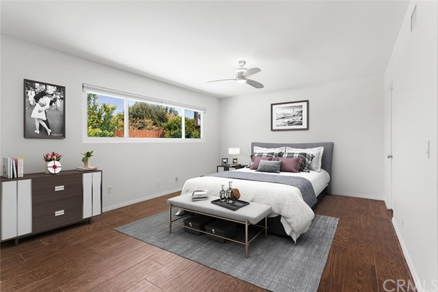 Master Suite with virtual staging