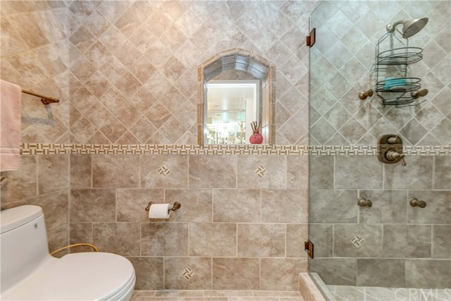 Separate toilet and shower