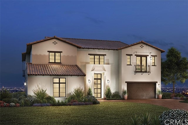 Front Elevation: Olgiata Adobe Ranch. Photo of artist rendering not actual home for sale, home is still under construction.