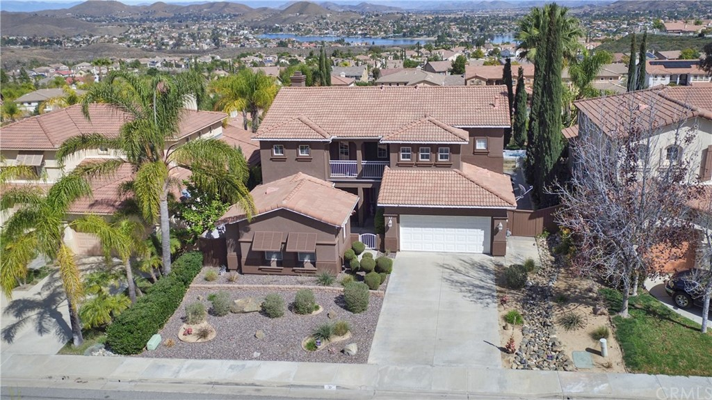 *ELEGANT POOL & LAKE VIEW HOME* PRIDE OF OWNERSHIP~Located in Highly Desirable Tuscany Hills. CLICK REEL FOR VIDEO! 4 BDS AND CASITA for mom, teen or office. Salt Water Pool Home w/Gorgeous Lake Views both levels! Private gated front courtyard. Grand entry w/exclusive tile floors & elegant stairwell. Ideal for entertaining~light bright open floor plan, formal dining, family room w/cozy fireplace and custom built entertainment center & removable bar. Enviable Chef's kitchen wide granite counters & spacious island w/seating, walk-in pantry, separate breakfast dining area w/access to patio. First floor bedroom & full bath! Luxurious Master Bedroom Suite w/spacious deck & gorgeous lake views, comforting fireplace & reading area. Relaxing Master Bathroom customized w/onyx sinks, decorative mirrors, designer granite counters, soak tub & tiled walk-in shower, his & her walk-in closet. All bedrooms upstairs have walk-in closets & lake view or private balcony. Finished & tiled Casita w/heat/AC. Large backyard w/lake views, barbecue island, salt water pool w/swim jets & 7 seat spa. Low maintenance drought tolerant landscaping. Two-car garage w/storage. Alarm system. Award winning Tuscany Hills Elementary. Tuscany Hills Private Rec Center,  Olympic-size pool & spa, park & barbecue, workout ctrs, tennis, volleyball & basketball cts & more. Area near Hwy 15 for commuters, Storm Stadium, Summerly Links Golf Course, fine dining & shopping Dos Lagos & Temecula Wine Country!
