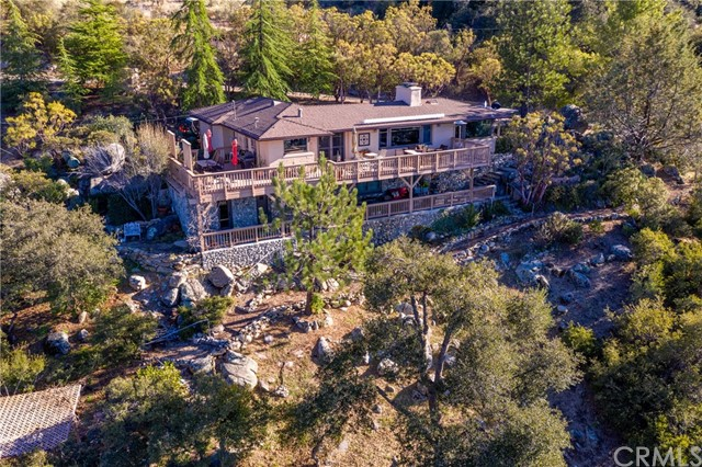 Aerial shot from back of the home