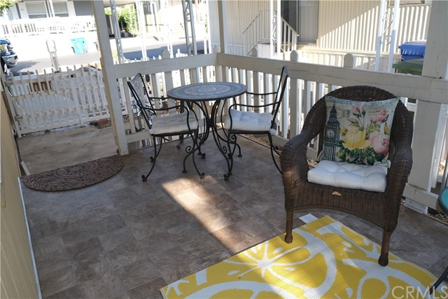 Covered patio on Entrance Area