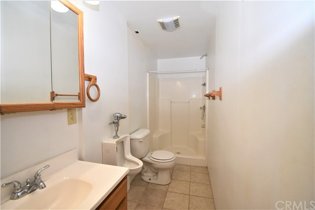 Bathroom in apartment structure.