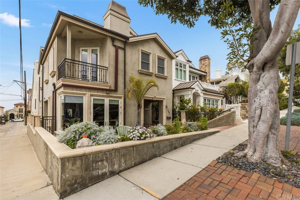Don't miss this incredible furnished home in the heart of Corona Del Mar flower streets. From the time you enter you will be impressed and want to move right in. The downstairs has a spacious living room, well-appointed gourmet kitchen, and open eating area. All open up to two patios. The back patio off the kitchen is perfect for BBQ's, and the front patio is for lounging, enjoying the ocean view and people watching. Head upstairs to 3 bedrooms on the next level. Two separate rooms that share a bath off the hallway, plus a beautiful master suite with French Doors to another view deck. Head up one more flight of stairs to a unique office (Crow's Nest) that opens up to a roof deck. Now here you can see China Cove Beach, the Newport Channel and Jettys, The Wedge, Newport Peninsula and Newport Harbor, and on a clear day you can see Catalina Island. Panoramic view just fantastic! Walk down the hill to China Cove Beach to put your feet in the sand, swim, kayak and stand up paddle. The village of Corona Del Mar is so inviting with shops, restaurants, etc. You have a laundry room with washer and dryer, and a one-car garage plus a carport.