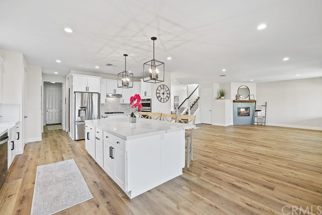 Recessed lighting, soft close cabinets, and a massive new island!