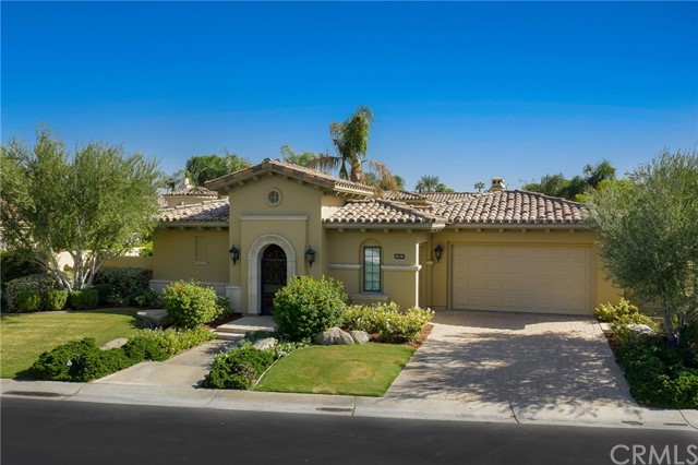 This 2019-2020 fully remodeled Toscana Country Club home (Plan 621), sits inside the private gates of Toscana Country Club and offers the best of desert living. With fantastic views of the fairway, this home is located on the 8th hole of the Signature Jack Nicklaus South Golf Course. At approx. 3,330 sq. feet, this beautiful home includes 4 bedrooms and 4.5 baths, including a detached Casita with sitting area and private, fully appointed bathroom. Entering through a private courtyard, with a covered veranda, this open floor plan features a large stone fireplace, creating a relaxing environment with a wet bar, a separate dining area and a kitchen with a nook. All new beautiful flooring throughout house. The master bedroom includes beautiful views and a fireplace. The luxurious master bathroom offers a standalone bath tub, a vanity and separate his and hers closets. The backyard boasts a private pool and spa with outside veranda and BBQ to enjoy the beautiful desert sunsets. DO NOT DISTURB TENANT--CALL LISTING AGENT FOR SHOWINGS.