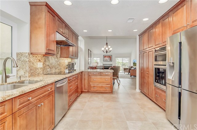 remodeled kitchen opens to living area