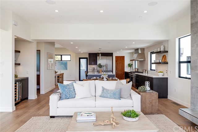 Modern open floor plan flows seamlesslessly (shown here using reverse of 961 Unit A staging)