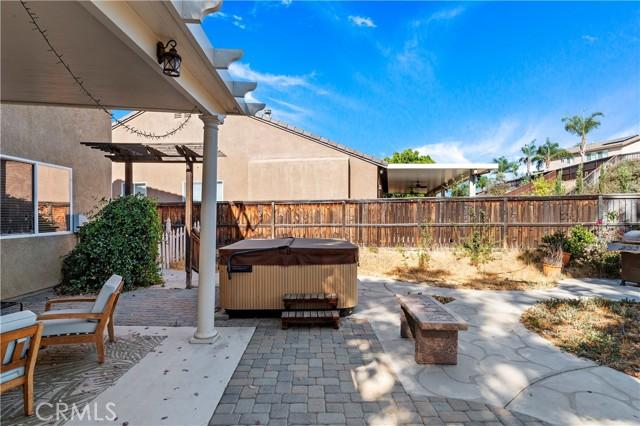Backyard with spa