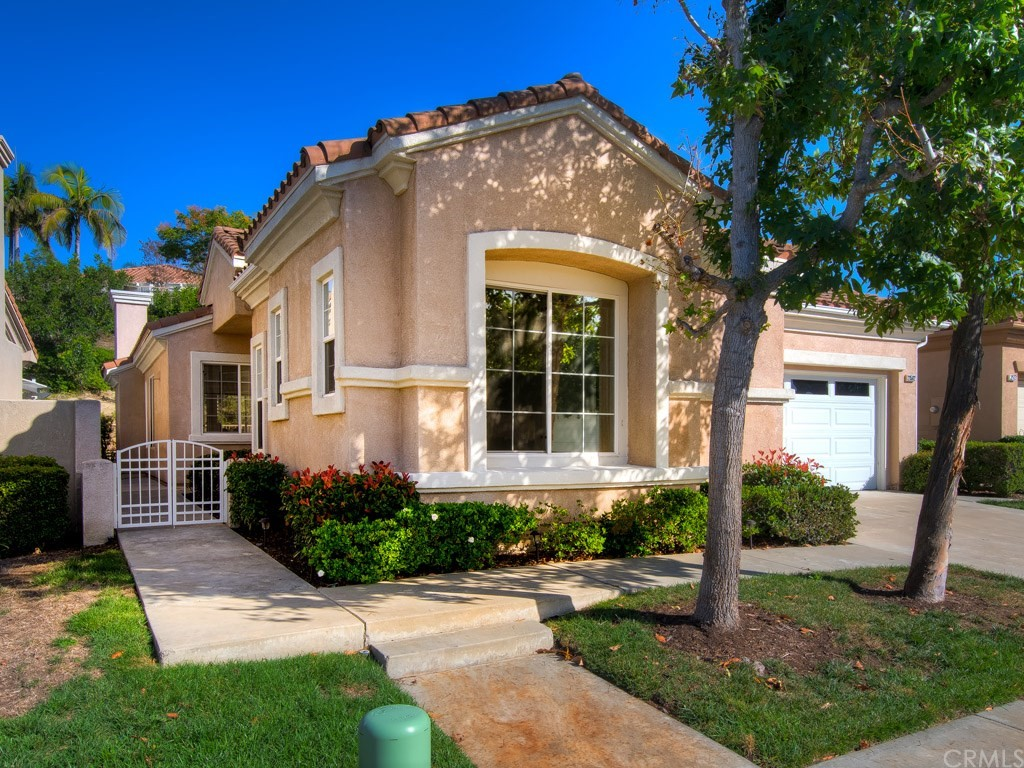 Welcome to the 55+ community of  Palmia where 55 is the new 40!  Enter through the private entry to be welcomed by an open & inviting spacious living room/dining room area where the feeling of Autumn is in the air. The roomy kitchen has plenty of counter space, pantry with pull-outs, includes all the appliances, is open to the family room & has a picture window overlooking the front walkway. The family room features a cozy fireplace with easy access to the wrap-around yard providing the perfect flow of indoor/outdoor entertaining & plenty of space to relax & unwind. The private master bedroom & bathroom are spacious with a large walk-in closet, two sinks, walk-in shower & soaking tub. Located on the other side of the home is a full bath with shower & tub that is shared by the additional bedrooms. You'll enjoy the convenient inside laundry with plenty of storage cabinets. 2-car attached garage with ample space to add built-ins. With a newer AC/furnace, recessed lighting & an abundance of natural light, this well-loved home is ready for your personal touches. Amenities are in close proximity & includes free Cox basic cable, clubhouse,  tennis courts, pool & spa, 18 hole putting green, billiards, pickle balll, tons of clubs & classes. A perk of living in Mission Viejo is that you have access to LAKE MISSION VIEJO. Enjoy two private beaches, boating, fishing & special events & more! This is a wonderful community to make friends & enjoy a fun lifestyle. Low tax  & no Mello Roos!