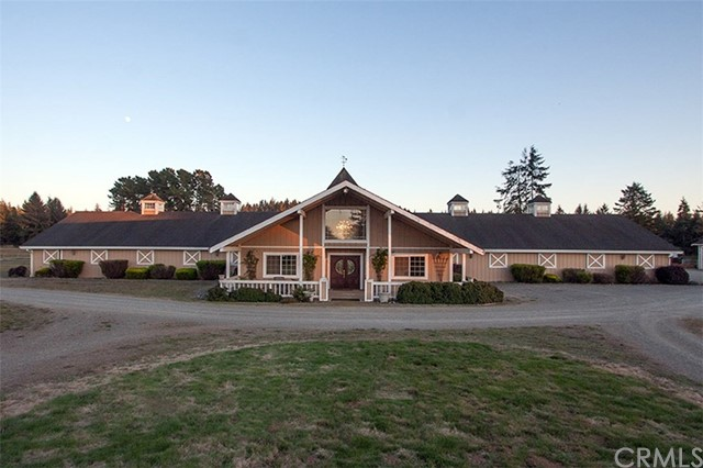 Do not go on the property without a written permission! Guard Dogs! Amazing opportunity awaits the right buyer. 67 Acers Horse lovers paradise. Spectacular home with full basement and elevator. Canning Room, Hay barn, 2000 sq. ft. garage with car pit. 5000 sq. foot barn, cow weighing building. Redwood trees, peak-a-boo ocean view, year round creek with large pond, two water wells, many buildings and garages, very close to town and a 30 minute walk to Clam Beach. Many possibilities with 4 green houses, worDo not go on the property without a written permission! Guard Dogs! Amazing opportunity awaits the right buyer. 67 Acers Horse lovers paradise. Spectacular home with full basement and elevator. Canning Room, Hay barn, 2000 sq. ft. garage with car pit. 5000 sq. foot barn, cow weighing building. Redwood trees, peak-a-boo ocean view, year round creek with large pond, two water wells, many buildings and garages, very close to town and a 30 minute walk to Clam Beach. Many possibilities with 4 green houses, workshops, storage tanks, 20 stall horse stables and miles of riding trails back to thousands of acres. International opportunity within a few minutes to airport! A real gem.