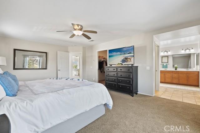 Large walk in closet, updated ceiling fan.