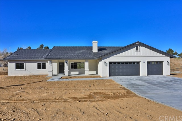 ****BRAND NEW CONSTRUCTION**** in desirable area of Hesperia. This beautiful custom home features split floorpan which includes 4 Bedrooms and 2 Bathrooms with 2041 square feet situated on approximate 1 acre (41,300 lot size). Spacious kitchen with fabulous gray quartz countertops sitting atop of bright white cabinets. Large island with room for barstools, walk-in pantry, stainless steel appliances, ceiling fans and recessed lighting thru out the home. Energy efficient tankless water heater and HUGE BONUS -----PAID SOLAR! Oversize master bedroom, walk in closet and ensuite to include separate shower and tub. Indoor laundry, covered back patio. triple garage. Home currently under construction. Expected completion date 1/26/21 Check It Out Today!