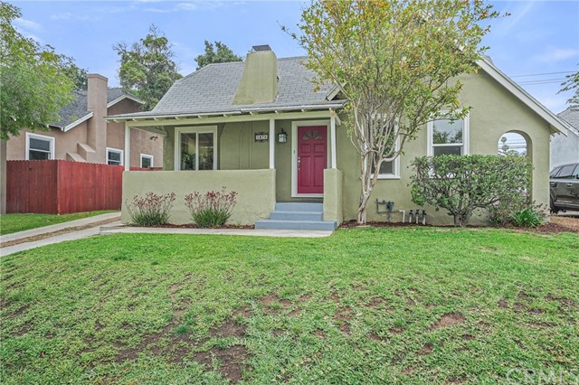 This charming 3 bed, 2 bath home is located in the highly desirable Brigden Ranch neighborhood of East Pasadena. This entertainer's dream boasts an open and functional floor plan with hardwood floors, marble countertops and recessed lighting. Enjoy lots of natural light with high ceilings and dual paned windows throughout. Plenty of options for indoor-outdoor dinning and entertainment. This stunning home features modern amenities, ample closet space, a hallway laundry closet, as well as newer plumbing, electrical, and HVAC. Two good-sized bedrooms and a full bathroom sit adjacent to the main living area. The open floor plan extends into a cozy master suite which has its own access out to a trellis covered patio within an enclosed, enjoyable outdoor living space. Fruit trees can be found throughout the property. A long driveway leads to a detached two car garage, with one side configured as a workshop. Enjoy beautiful neighborhood strolls and close proximity to shops and restaurants with this great home. Available for showing, starting May 21, 2021.