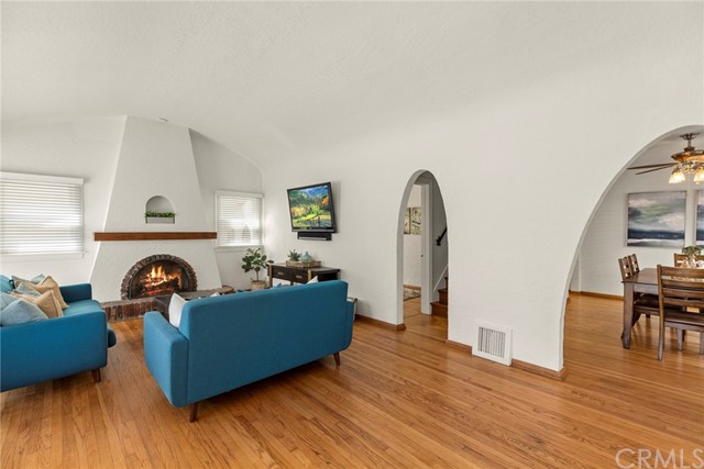Beautiful hardwood floors in the living and dining rooms...