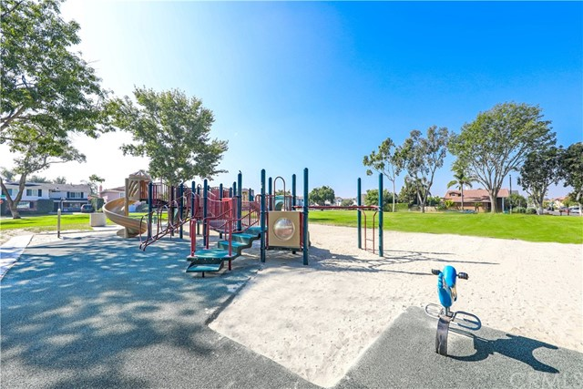 Heather Park with playground equipment and picnic benches for the families in CPE