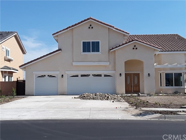 Coming Soon. Beautiful 5 bed, 4.5 bath two story SFR. with 3 car garage. Open floor plan. 3,307 square foot. Large 7,500 square foot lot. No association fees standards county tax...New Construction. Located in a very nice area of Fontana. KB is building a new community across the street. More details and information coming soon including interior and exterior pictures.