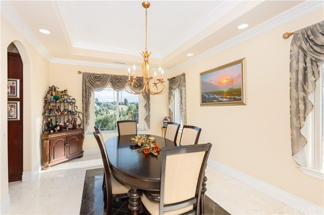 Formal Dining Room with Views