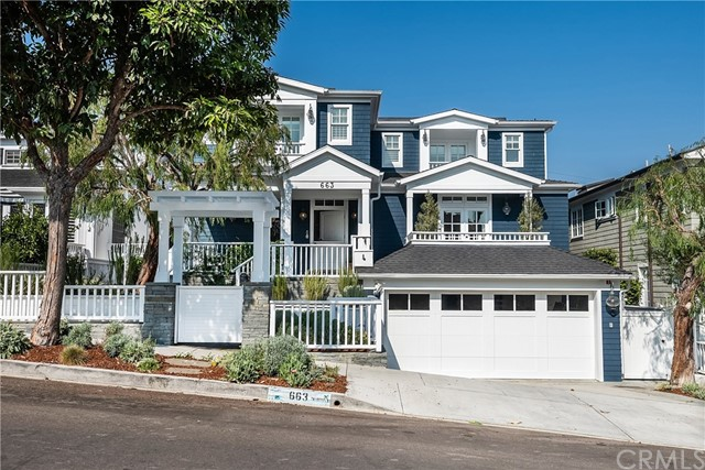 Cape Cod perfect! Rare opportunity to live on one of the top streets in town! Walk everywhere! This 5 bedroom, 5.5 bathroom home just completed an extensive remodel. With 4900 sq feet of living space this home sits on a 50 x125 foot lot only found in the prestigious American Martyrs Section. 1. Walk to downtown Manhattan Beach 2. Walk to Award winning schools 3. Walk to Beach 4. Walk to Park. You will not see any power lines hanging over the street and you actually have Sidewalks and Curbs giving 18th st a feel that few other streets in Manhattan Beach offer. With an open floor plan, the great room is extremely spacious containing the family room, kitchen, dining area, breakfast nook, and classic white French doors onto the back patio. All new white marble counter tops, brass hardware, new Viking appliances, and brass water fixtures along with new custom tile. New hardwood floors give the home a bright feel. Entertain out in the big back yard with outdoor kitchen & BBQ, outdoor fireplace and outdoor dining space. 4 bedrooms all sit together on the second floor, including the large master suite with a separate office/gym, balcony, window seat and large en-suite bath with a double shower, standing tub and separate steam room. Complete with a large downstairs basement/game room with bar and wine cellar, this home offers a 2nd living area rarely found. Lifesource water filtration, AC, and all new landscaping round out the perfect Manhattan Beach estate. This will not last!