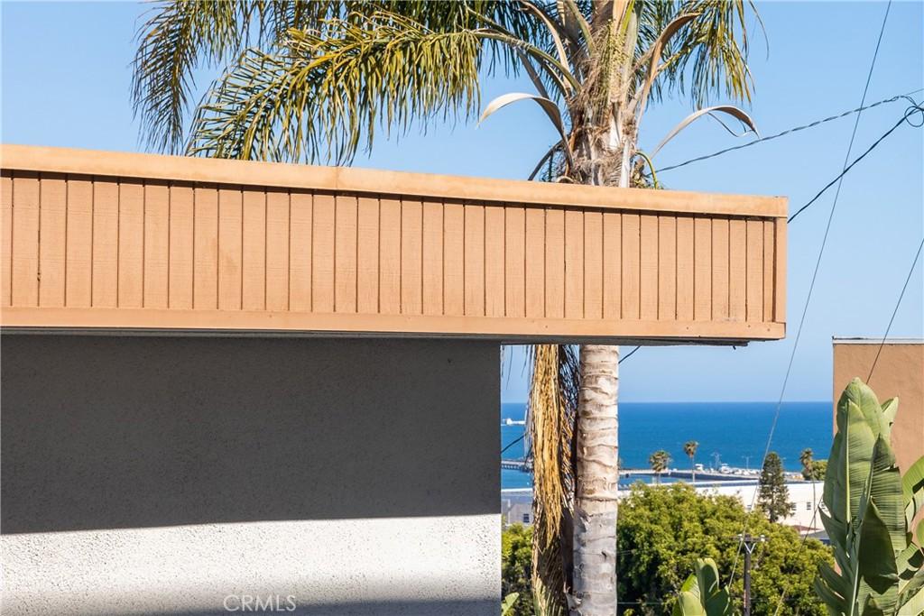 Blue ocean views from patio.
