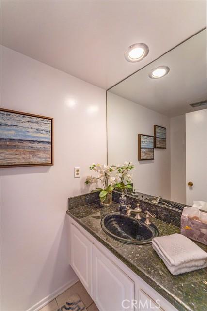 Powder room, half bath downstairs.