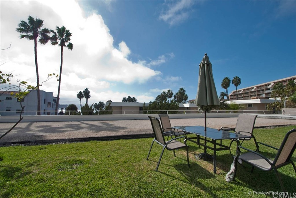 LIVE AT THE OCEAN WITH A GORGOUS VIEW AND PEACEFUL SETTING! STAY AT HOME ORDERS STILL IN PLACE AND REFLECTIVE OF THE RENT PRICES AVAILABLE FOR MAY ONLY 2995.00 FOR JUNE ONLY 3200.00 BOTH MONTHS OR EITHER OR!! If we have to stay in and stay safe why not STAY IN BEAUTIFUL SAN CLEMENTE IN THIS LOVELY 2 BED, 2 BATH CONDO WITH A PANORAMIC OCEAN VIEW!  Fully furnished and sleeps up to 6. Master bedroom with bath and king bed - secondary bedroom with twin beds.  Balcony with full ocean view offers sitting area, BBQ and table.  Indoor laundry in closet - small loads OR community laundry.  One car garage for convenient parking.  This is available FOR again in OCTOBER FOR 3775.00 must be a 30 day minimum GREAT PLACE TO KICK YOUR FEET UP !!!! MONTHS VARY IN PRICE DUE TO SEASON