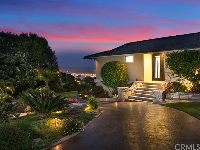 Newly & entirely renovated Panoramic Ocean & Harbor Views AMAZING Home. MUST SEE. Surrounded by beautiful lush landscaping with tranquil water features on a cul-de-sac street.  When you enter through the large double doors, the blue tropical fish aquarium welcomes you. Full privacy and views with walls of glass that open for seamless outdoor living. You can soak up the sights whether you're lounging by the pool, entertaining on one of the multiple decks or keeping warm inside. No expense has been spared and no detail has been overlooked. It is a seamless mix of Mid-Century and Contemporary design. Open kitchen w/Bosch dishwasher & stainless sink. New high end teakwood cabinets with special organizers with granite counter tops. Travertine tiles & wood floors w/teakwood stair steps. Double sided fireplace & interior exterior sound system that runs throughout the property. A large resort style master bathroom w/a freestanding Hydrosystem collection soaking Tub & Kohler high end one-piece intelligent toilet w/touchscreen remote. Custom walk-in closets in every room. The downstairs 2nd family room has a bar & a full bathroom. it's perfect for family entertainment. The home has automatic blinds, all new Pex plumbing, New furnace, HVAC, w/ zone control. Grassy backyard w/Pool, spa. Close to the PVP high, Terranea Resort, golf courses & beautiful coastal hiking/biking trails. Don't miss this once-in-a-lifetime opportunity to own and live in this fantastic home.