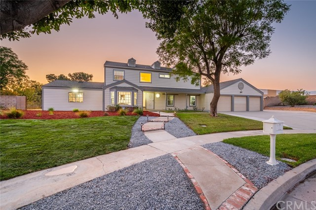 Rare find in **PRESLEY ESTATE COMMUNITY**  Looking for a home that is stunning, beautiful, and great for entertaining? You Just Found It! This Traditional Style Home sits on an 18,000 sq. ft. lot. It has 5 bds, 3.5 ba with a little under 3,000 sqft. This 2 story home has a 3 car garage with Tesla charger and exhaust fan that will quickly keep things cool, r/v parking, 2 storage sheds, and fresh landscape. New dual pane windows, new slider doors, newer a/c, new duct work, and fresh exterior paint. Recessed lighting throughout. The upgraded kitchen has Granite counters is big and open with plenty of cabinet space. There is also a large separate breakfast and coffee area with more cabinets and Granite. Downstairs also includes formal living room, formal dining room, a family room w/fireplace, bedroom with full bathroom, half bathroom and separate laundry area. Master bedroom with fireplace and large newly resurfaced deck. There is also a Quiet Cool whole house fan and a SunPower solar system. Now it's time for the backyard and it is stunning!! Beautiful park-like yard that is great for entertaining. Lots of greenery that includes plush grass, foliage and several fruit-bearing trees. You will enjoy the 3 covered patios as well as the built-in fire pit. This is a MUST SEE. There might not be another house for sale in this area for months or years. This one is a RARE GEM!