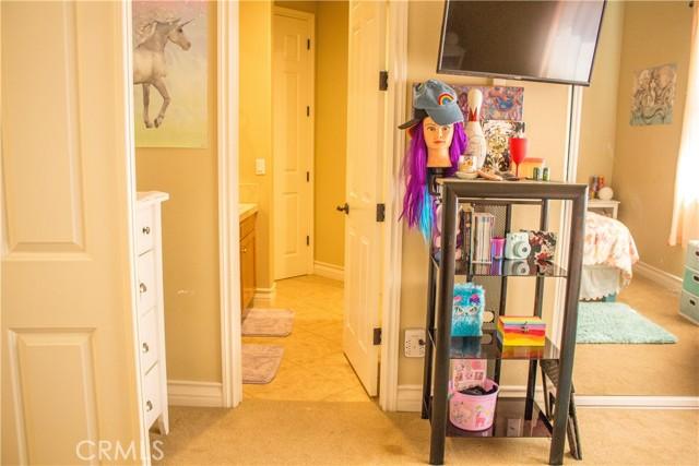Bedroom 2 into Bathroom
