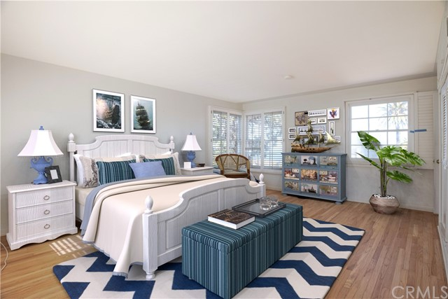 Master bedroom has been virtually staged.