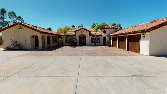 Back on Market New & Improved! Check out the 3-D for newest photo's and feel of this property! Ready for immediate move-in! This property provides acreage, privacy & has it's own 600ft Spring Well. Was Baxter Rd is now Wildomar Trails from the 15 FWY. Super easy freeway accessible but not too close. Gated property with custom iron gate leads to the Barn that the Seller has plans to make a Barndominum like Guest House that can be used for so much! There are several fruit trees such as orange, blood orange, pomegranate, apricot and more! Tons to grow a garden! Exterior & Interior just painted! Enter the Estate into Foyer overlooking into the Formal Living Room looking out to Pool, Dining Room and also Office. Check out the large chef kitchen with granite counter tops and island open to the Family Room with fireplace. All bedrooms are in the opposite wing with Master Bedroom with sliding doors to backyard pool or French door to Hot Tub on one of many patios. Two secondary bedrooms that have jack-n-jill bathroom plus both rooms have sliders to patios. There is also a fourth bedroom that has access to full hallway bath. Head out to the backyard to enjoy beautiful pool & view! Below pool area more useable land that has trees & cleared area for camping. Property has Three RV Hook up & clean-out!