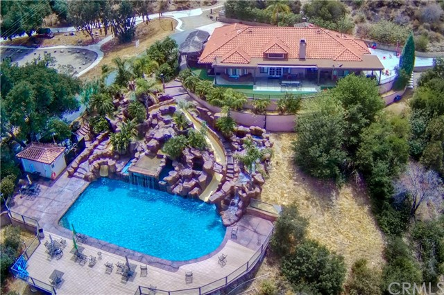 Overview of house and pool area