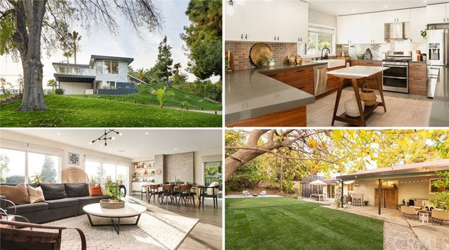 Tucked away in the HEART of Sunny Hills Estates is this award winning home on a tranquil cul-de-sac. Entertaining offers between $1,600,000-$1,650,000. This gorgeous, modernized home was completely stripped down to studs, reconstructed, re-piped (including sewer lines), re-wired, and its entire interior rebuilt, with classy, contemporary style. NEW in 2017: AC, furnace, 2 water heaters, all windows, and all doors (w/insulated, energy efficient units). The gourmet kitchen features stainless steel backsplash and appliances, an attractive 2-toned design that includes real walnut wood cabinetry facing and island w/quartz countertops. Each bathroom is unique and current, decorated w/high-end materials and frameless glass enclosures. The great room is open and spacious w/generous views of the surrounding trees and a lovely deck. The living room and great room enjoy custom window coverings that have UV, glare, light and fade protection from the exposure to the southern sun. All 5 bedrooms enjoy en suite access to a bathroom. The master suite boasts a well-appointed walk-in closet w/built-in cabinetry plus an armoire unit. Relax in your master en suite's fantastic walk-in shower w/multi-directional sprayers, or soak in the deep bathing tub. Sitting on 2/3 of an acre, get ready to grow your own produce in the gardenhouse's raised beds replete w/compost bins. Set up your net and play ball on the sport court! Included are blueprints for 1200sqft ADU w/1200sqft storage room!