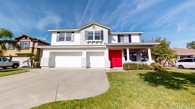 Nestled in the Etiwanda Community with Cucamonga Peak just on the North side, the double doors of this updated high ceiling home lead you into a comfortable living room and then to an open kitchen and dining area encompassing a fireplace – perfect for holidays and intimate gatherings! Plus notice plenty of cabinet and storage space. Appreciate natural light throughout. The upstairs section is multifunctional; turn it into a family room, game room or a 5th bedroom! The spacious master bedroom features double entry doors with an ample walk-in closet. The master and upstairs bathroom conveniently include dual sinks. Tied into the interior extras are a well sized pantry, a walk-in linen closet and a big enough laundry space, leading into the finished garage. For the exterior, you will be pleased with a generous backyard, a gazebo and an approximately 650 sqft lanai patio, all to meet your entertainment needs. Other highlights: a well manicured front yard, new garage doors, copper plumbing, wood frame stucco, concrete tile roof and solar panels (buyer to assume lease). Local accommodations: easy access to shopping centers, among those is the very popular Victoria Gardens. Enjoy a visit to Joseph Filippi Winery & Vineyards down the way. Just around the corner is Grapeland Elementary School, a California distinguished school.  And, lastly a convenient commute to the 15 & 210 freeways; the 10fwy is nearby as well.