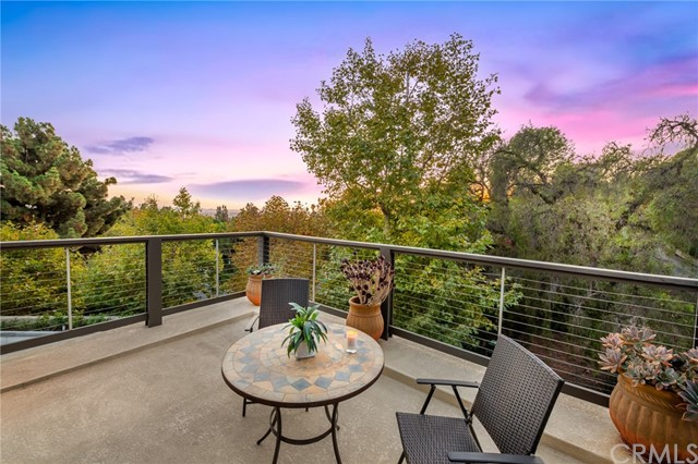 Guest house deck with forever views