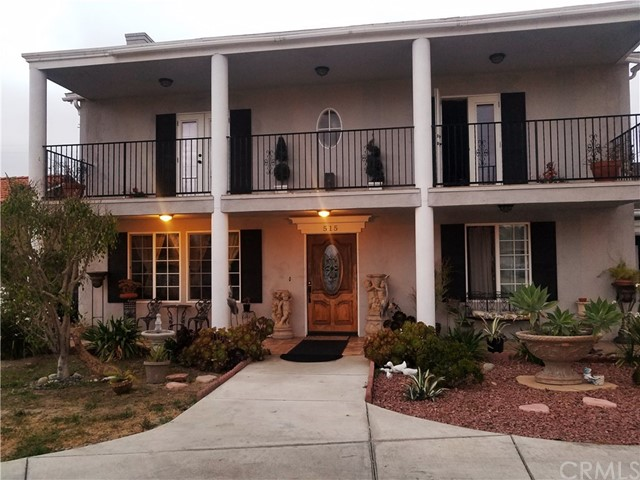 HOME is back on the MARKET!! Beautiful balcony home boasts pride of ownership! This is a beautiful 5 BR, 3BA home with a Bonus room for your mother-in-law or maybe a work out room maybe a man cave? Home has been upgraded, French doors, Circular driveway, room for RV home is a must see!! Walk in to a beautiful living room with ceramic tiled gas fireplace. The entry of the home leads you to the downstairs bedroom with access to .75 bathroom with tiled shower and granite vanity. Beautiful remodeled kitchen with European cabinetry, granite counter tops, stainless steel appliances, large center island with breakfast bar and travertine floors. Kitchen leads to a great family room with French Doors leading you backyard/patio areas. Upstairs has wood laminate floors in all 4 bedrooms, 2 bedrooms have French doors leading to the upstairs balcony area. The hallway bathroom has granite vanity with dual sinks and shower over tub. Master bedroom with large walk in closet and also a beautiful upgraded master bathroom with granite vanity. Tankless water heater installed 3 yrs ago, water softener installed 1 yr ago, Solar Panels installed 2 years ago (mthly payment $243.48) Beautiful fruit trees planted and great landscaping. RV parking gated circular driveway. This home is a must see!! Will be ready to show in about 2 weeks be the 1st to see it!