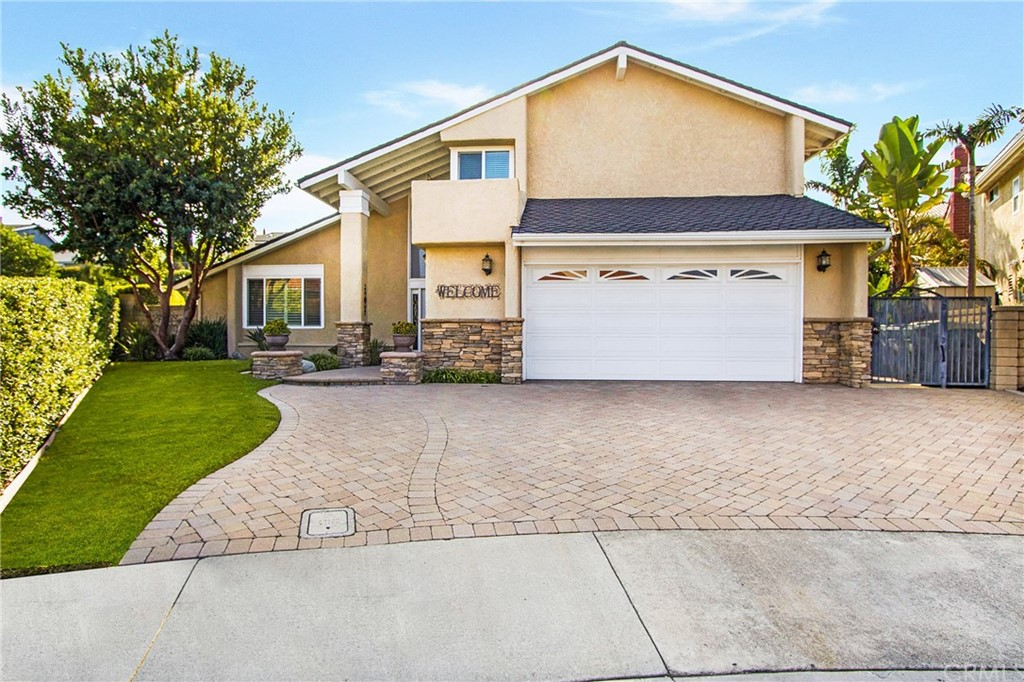 Perfectly situated at the end of a CDS & on a single-load street is this lovely 4-bedroom home in the heart of Mission Viejo. Don't let the square footage fool you; this home feels much larger than what it is. Delight in this perfect floor plan in the highly sought out Madrid Del Lago neighborhood. From the moment you walk in you'll feel at home. The formal living room boats high ceilings, handsome hardwood floors, fireplace, double-pane windows with white plantation shutters & complimented by a spacious dining room. Bright & light kitchen with newer Quartz counters, recessed lighting, white cabinetry & views to the backyard. Enjoy causal meals at the counter-bar or breakfast nook. The kitchen adjoins the family room & is adorned with crown molding, a built-in media center with bookcases, a cozy fireplace & plenty of storage to keep the bare necessities of life handy. DOWNSTAIRS BEDROOM makes the perfect home office & is just steps away from a full bath. The master bedroom is spacious, offers a walk-in closet, updated vanity area and an upgraded enlarged walk-in shower. Two additional spacious bedrooms, a full bath, complete the upstairs. Relax & rejoice in the backyard. Splash around in the pool or dine with friends as this backyard is perfect for outdoor entertaining. Side yard with grass area & another area with low pebble rocks. In close proximity to parks, trails & the amazing perk of being able to enjoy all activities that Lake MV offers. Low HOA & no Mello Roos.