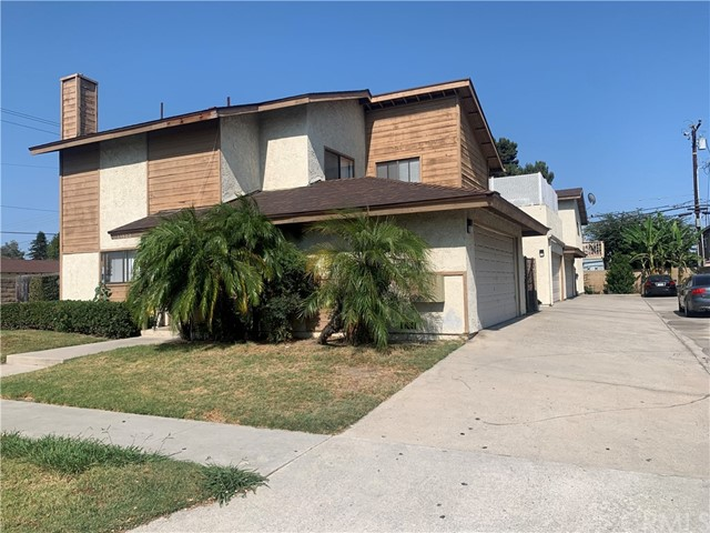 GREAT INVESTMENT OPPORTUNITY OR LIVE ONE AND RENT OTHER THREE. This 4-plex is located at the corner lot of a quiet cul-de-sac, in an established family neighborhood of Garden Grove. All units are fully rented, 2 car garages with garage door openers for each townhome style 3 bedrooms and 2.5 baths, 1 car garage with garage door opener for each 2 bedrooms 2 baths, community laundry room. Nicely manicured front yard. Newer roof for all units. All units are separately metered for gas and electricity. Located in good area of Garden Grove, easy freeway access, short distances to shopping centers, restaurants, near public transportation, schools, church, temple. Please do not walk on property and do not disturb tenants in any circumstances.