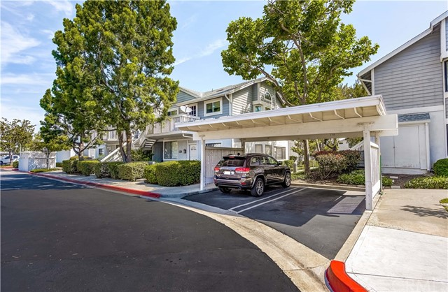 In addition to to your shared garage, your assigned carport is just down the sidewalk!