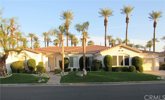 Beautiful 4 bedroom, 2.5 bath, 2,356 square foot home in the gated Sundance Community in Indian Wells. The home features an open kitchen, living room with fireplace, family room with windows opening to the back yard. The back yard has patio, private in-ground pool, and Jacuzzi. Wonderful well thought out floor plan and good appeal.