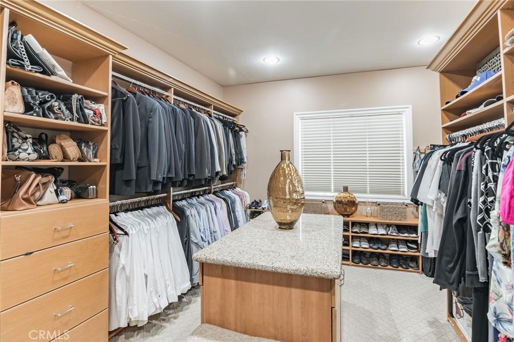 Extra large walk-in closet.