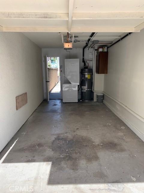 Single car garage for rear unit