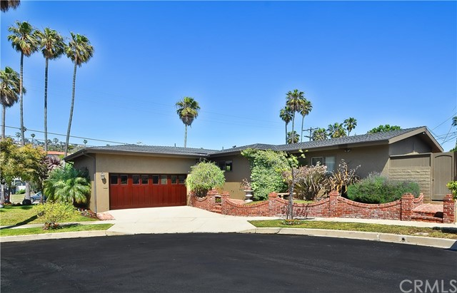 This beautifully remodeled one level home is located in the prestigious lower South Shores area of San Pedro on one of the most exclusive streets, Paseo Del Mar. You get the best of both worlds with this house, guests can enjoy easy access from Paseo Del Mar and garage access from the quiet cul-de-sac around the corner. Featuring 3 bedrooms, 2 bathrooms, with over 2,400 sq. ft. The spacious floorplan includes a updated kitchen, dining room, wood-floors throughout, beautiful high wood beam ceilings in the family room and a living room with fireplace. Enjoy California coastal living in the spacious backyard with a huge patio for entertaining, and sparkling pool with spa! This home is move-in ready! Located 1/2 a block from the ocean bluffs and walking distance to beautiful sunsets at Royal Palms Beach, hiking trails, restaurants, and the Palos Verdes coast.