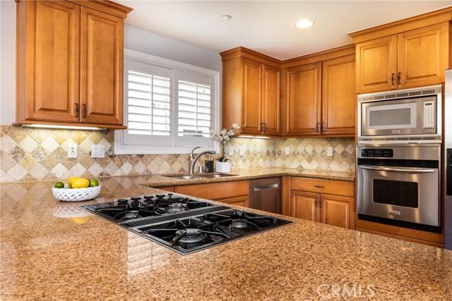 Granite counters in the kitchen