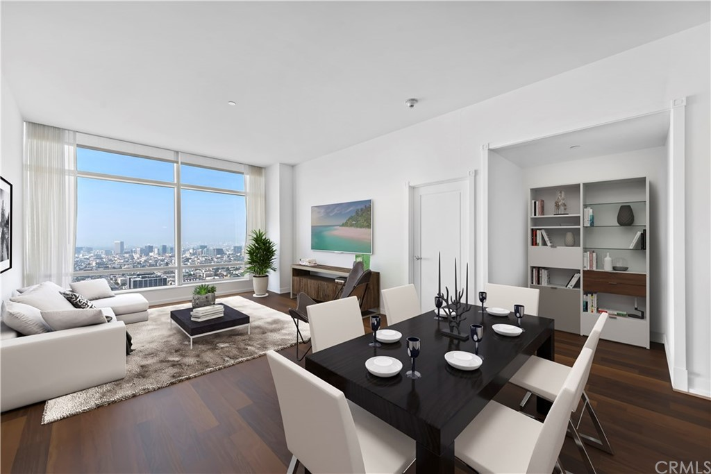 large great room with views of the Hollywood Sign