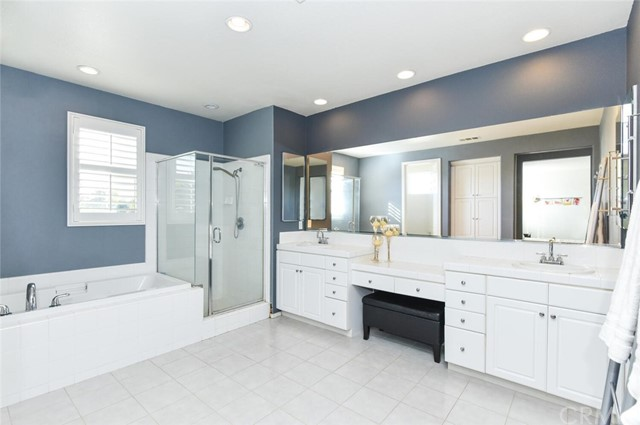 Enjoy this Soaking Tub and Large Shower in this Oversized Master Bathroom.