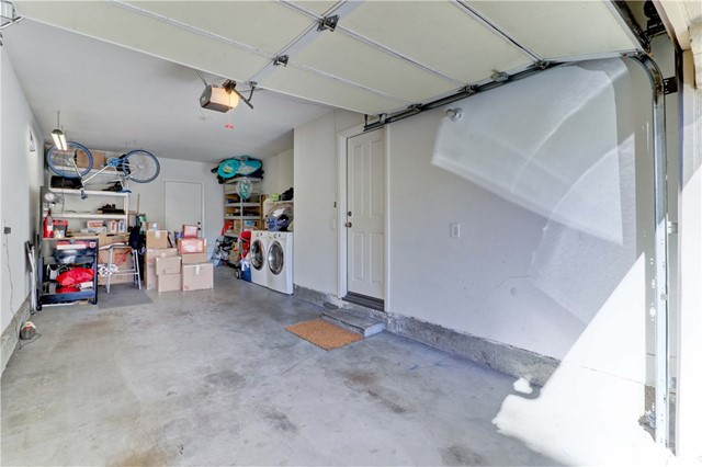There are 2 single-car attached garages (this one is extra deep for added storage)